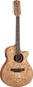 Guitare électro-acoustique en frêne