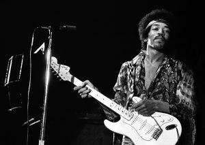 Jimi Hendrix Guitare électrique pour droitier inversée