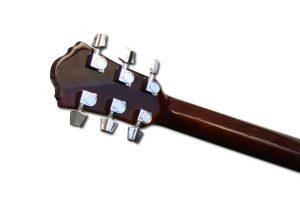 Manche de guitare acoustique en acajou